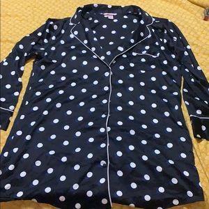 Victoria's Secret Silky Polka Dot Night Shirt